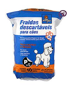 Imagem Fraldas Descartáveis P 10 unid. (até 3,5kg)