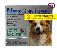 Imagem NexGard G (10,1 a 25kg) 3 Tabletes