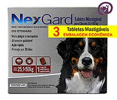 Imagem NexGard GG (25,1 a 50kg) 3 Tabletes