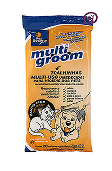 Imagem Multi Groom 20 toalhas umedecidas