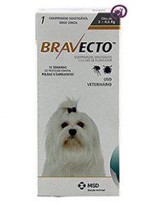 Imagem Bravecto Cães 2 a 4kg (112,5mg)