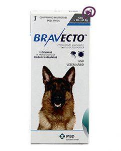 Imagem Bravecto Cães 20 a 40kg (1000mg)