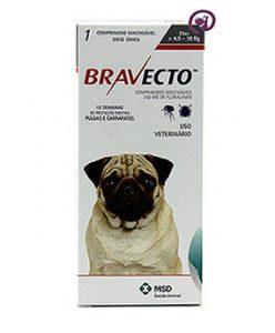 Imagem Bravecto Cães 4,5 a 10kg (250mg)