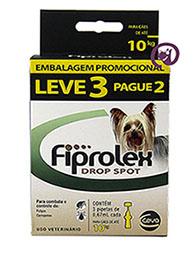 Imagem Combo Fiprolex Cães até 10kg (LEVE 3 pague 2)