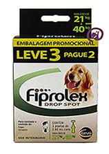 Imagem Combo Fiprolex Cães 21 a 40kg (LEVE 3 pague 2)