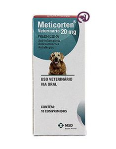 Imagem Meticorten Veterinário 20mg 10 comprimidos