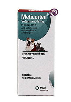 Imagem Meticorten Veterinário 5mg 10 comprimidos