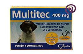 Imagem Multitec 400mg Cães c/ 5kg 4 comp.