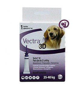 Imagem Vectra 3D Antipulgas e Carrapatos Cães 25 a 40kg