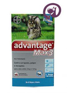 Imagem Advantage MAX 3 Pulgas e Carrapatos Cães 4 a 10kg