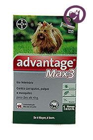 Imagem Advantage MAX 3 Pulgas e Carrapatos Cães até 4kg