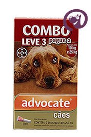 Imagem COMBO Advocate Cães 10 a 25kg 2,5ml