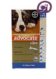 Imagem Advocate Cães 25 a 40kg 4ml