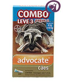 Imagem COMBO Advocate Cães 4 a 10kg