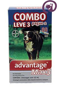 Imagem COMBO MAX 3 Pulgas e Carrapatos Cães acima de 25kg