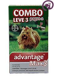 Imagem COMBO MAX 3 Pulgas Carrapatos Cães até 4kg