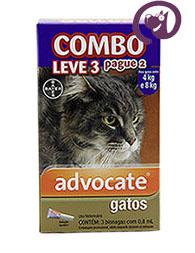 Imagem COMBO Advocate Gatos entre 4 e 8kg 0,8ml