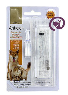 Imagem Anticion Injetável 1ml Contraceptivo Cadelas e gatas