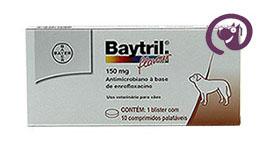Imagem Baytril Flavour 150mg 10 comp. Antibiótico Cães