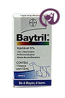 Imagem Baytril 5% Injetável 10ml Antibiótico cães e gatos