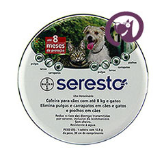 Imagem Coleira Seresto até 8kg Cães e Gatos 38cm