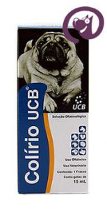 Imagem Colírio UCB 15ml Cães e Gatos Solução Oftálmica