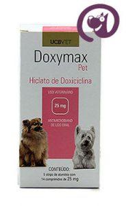 Imagem Doxymax Pet 25mg 70 comp. Antibiótico cães