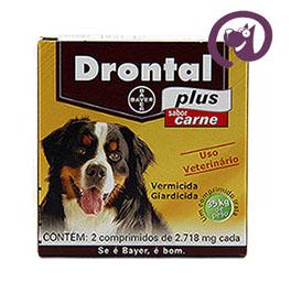 Imagem Drontal Plus Carne Cães 35kg 2 comp. vermífugo oral