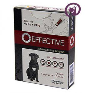Imagem Effective Cães 40 a 60kg 10ml Antipulgas e Carrapatos