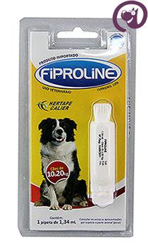 Imagem Fiproline Cães 10 a 20kg 1,34ml Antipulgas Carrapatos