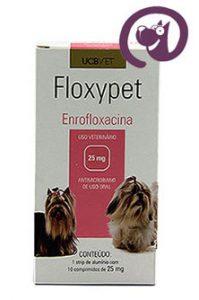 Imagem Floxypet 25mg 10 comp. Antibiótico Cães