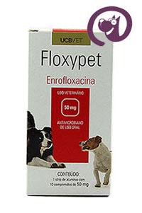 Imagem Floxypet 50mg 10 comp. Antibiótico Cães