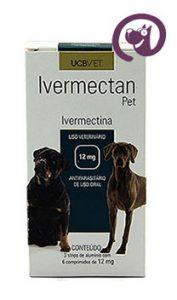 Imagem Ivermectan Pet 12mg 18 comp. Sarna Cães