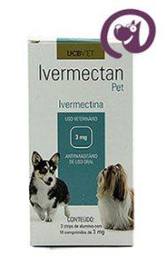 Imagem Ivermectan Pet 3mg 30 comp. Sarna Cães