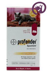 Imagem Profender Spot On Gatos 5 a 8kg vermífugo tópico