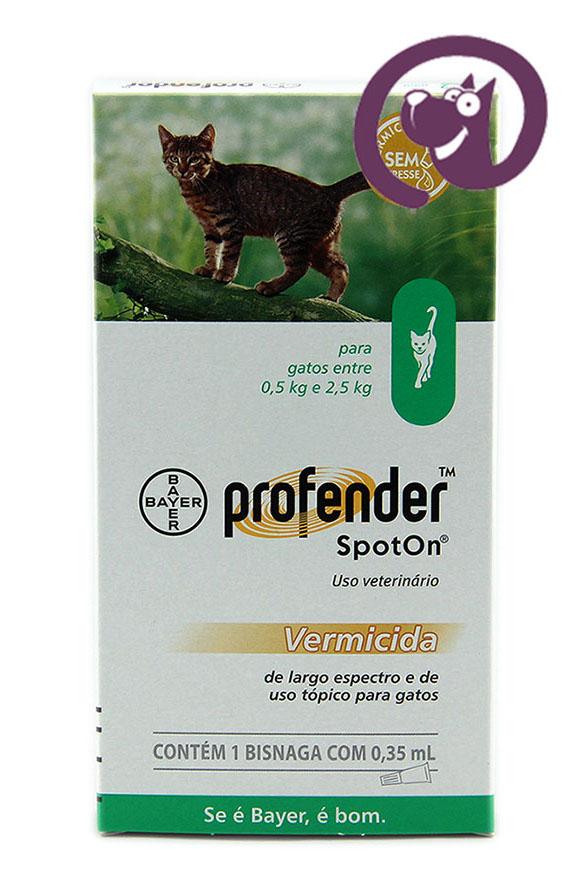 Imagem Profender Spot On Gatos até 2,5kg vermífugo tópico