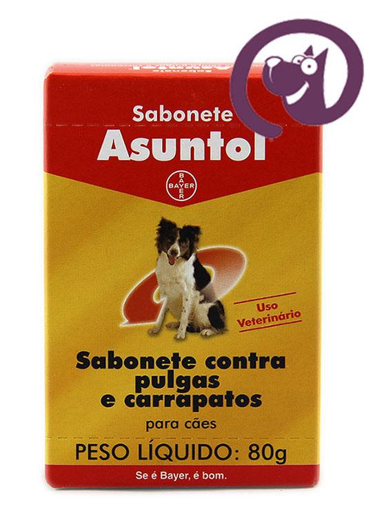 Imagem Sabonete Asuntol Cães 80g contra pulgas e carrapatos