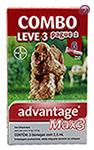 Imagem COMBO MAX 3 Pulgas e Carrapatos Cães 10 a 25kg