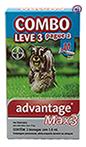 Imagem COMBO Advantage MAX 3 Pulgas e Carrapatos Cães 4 a 10kg