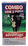 Imagem Advantage MAX 3 Pulgas e Carrapatos Cães acima 25kg - Bayer