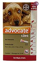 Imagem Advocate Cães 10 a 25kg 2,5ml