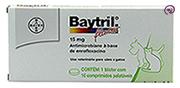 Imagem Baytril Flavour 15mg 10 comp (Antibiótico Cães e Gatos)