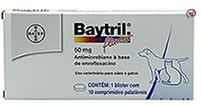 Imagem Baytril Flavour 50mg 10 comp (Antibiótico Cães e Gatos)