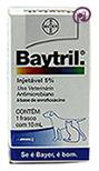 Imagem Baytril 5% Injetável 10ml (antibiótico injetável cães e gatos)