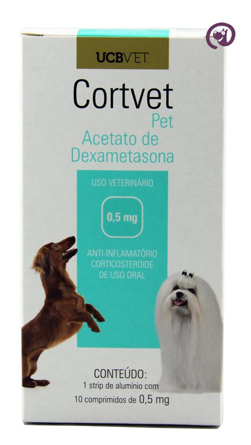 Imagem CortVet Pet 0,5mg 10 comp Anti-inflamatório Cães