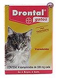 Imagem Drontal Gatos 4 comp (vermífugo oral)