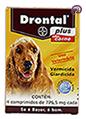 Imagem Drontal Plus Cães 10kg 4 comp (vermífugo oral)