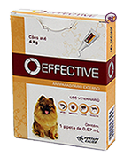Imagem Effective Cães até 4kg 0,4ml Antipulgas Carrapatos