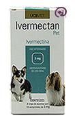 Imagem Ivermectan Pet 3mg 30 comp Sarna Cães
